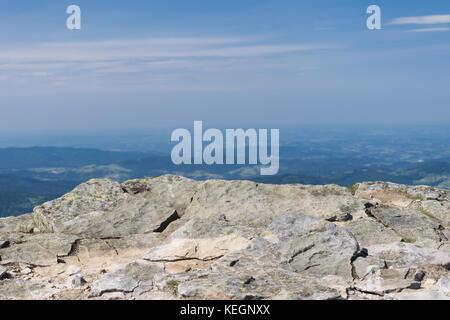 Sur la montagne, beskidy, Babia Góra, Pologne. Banque D'Images