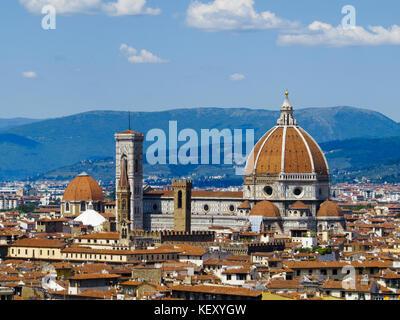Il Duomo di Firenze (la cathédrale de Florence). De florence, toscane, italie. Banque D'Images