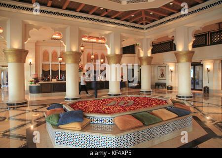 Emirats arabes unis, dubaï, Madinat Jumeirah, l'hôtel, lobby, Banque D'Images