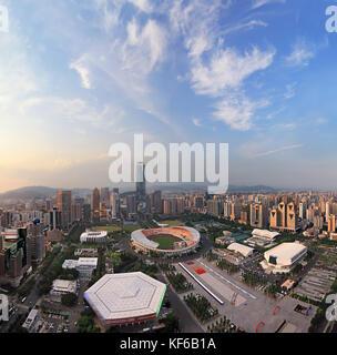 La construction de la ville de Guangzhou dans la province du Guangdong, Chine Banque D'Images