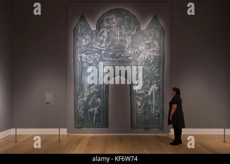 National Gallery, Londres, Royaume-Uni. 26Th oct, 2017. monochrome: peinture en noir et blanc explore la tradition Banque D'Images