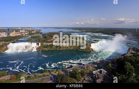 Niagara Falls, vue panoramique de la tour Skylon, Canada Banque D'Images