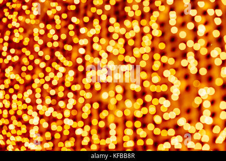Résumé fond jaune. Bokeh. Fond de Noël, Nouvel an. Banque D'Images