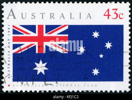 Timbre-poste - drapeau australien
