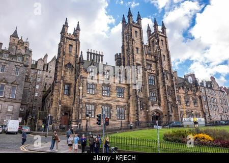Salle de l'Assemblée générale et le nouveau collège, l'Université d'Édimbourg sur la butte hill à Édimbourg, Écosse, Banque D'Images
