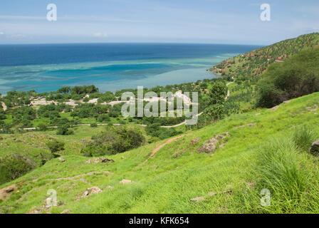 Côte nord de Timor-Leste (Timor oriental), à l'est de Dili
