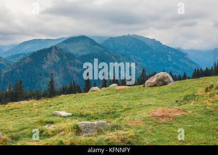Rusinowa glade, bel endroit dans les montagnes Tatra polonaise, Pologne Banque D'Images