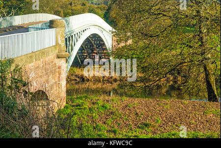 Bigsweir Bridge sur la rivière Wye dans la vallée de la Wye
