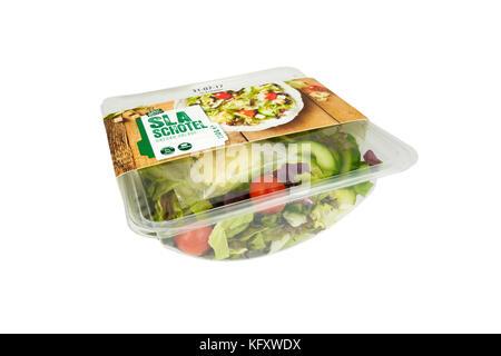 Pays-bas - otterlo - Juillet 26, 2017 Salade de supermarché: dans un bol, prêt à manger, de la Spar supermarché Banque D'Images