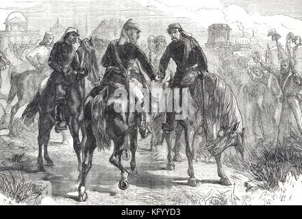 Réunion des directeurs généraux, Sir Henry Havelock, sir James Outram, sir Colin Campbell, premier soulagement de Lucknow, Révolte des cipayes de 1857