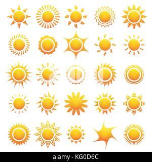Ensemble d'icônes sun collection. vector illustration Banque D'Images