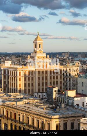À partir d'une architecture proche du Malecon, La Havane, Cuba, Antilles, Amérique centrale Banque D'Images