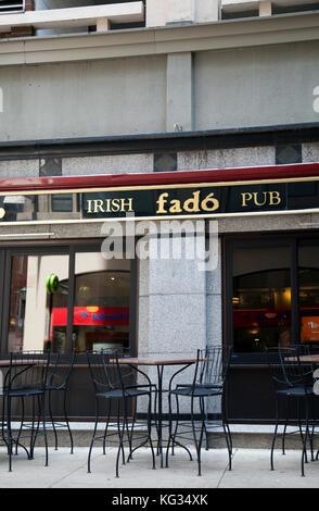 Fado Irish Pub à Philadelphie - Etats-Unis Banque D'Images