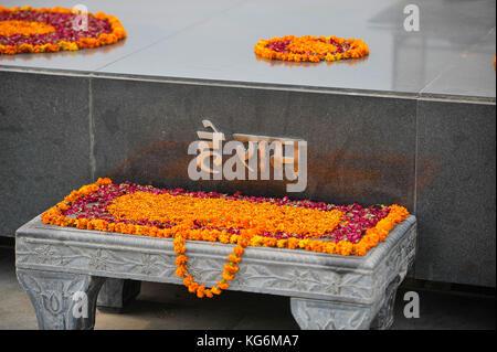 Gandhi Memorial du tombeau - New Delhi, Inde Banque D'Images