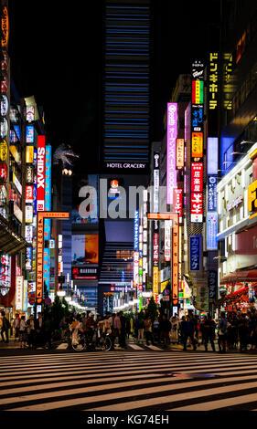 Godzilla road dans le quartier de Kabukicho, divertissement de Shinjuku à Tokyo, avec le chef de la célèbre monster Banque D'Images