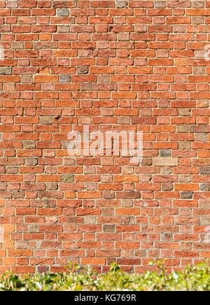 Old vintage récupéré texture mur de briques rouges Banque D'Images