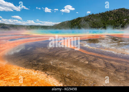 Grand Prismatic Spring in Yellowstone National Park Banque D'Images