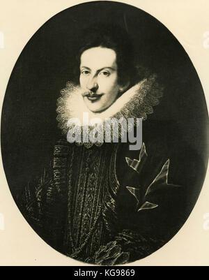 Portrait du Grand-duc Cosme II de Médicis, peinture par Sustermans Banque D'Images