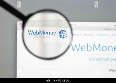 Milan, Italie - 10 août 2017: transfert wm accueil du site. c'est un service de transfert de fichiers de l'ordinateur. Banque D'Images