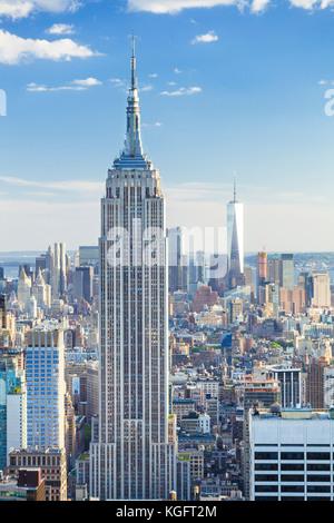 New York usa new york Manhattan skyline new york empire state building midtown Manhattan new york city new york Banque D'Images