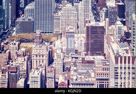 Tons vintage photo de new york city Manhattan, Etats-Unis. Banque D'Images