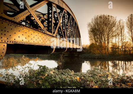 Un pont ferroviaire sur la tamise à Culham, Oxfordshire