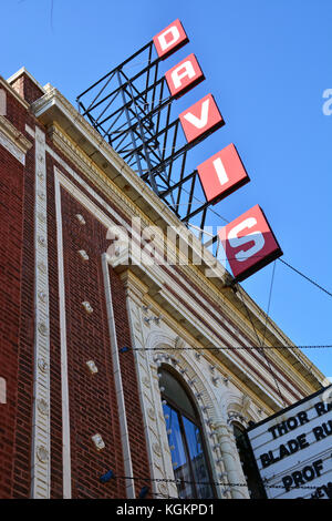 La Davis est un petit cinéma de quartier dans la région de Lincoln Square sur Chicago's côté nord. Banque D'Images