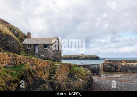 Meneau Cove, péninsule du Lézard, Cornwall, England, UK Banque D'Images