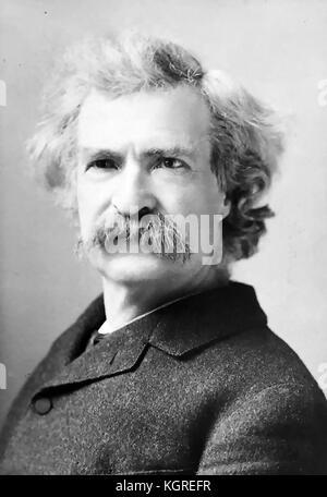 Mark Twain (1835-1910) écrivain et éditeur américain vers 1890 Banque D'Images