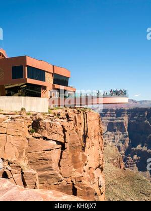 Grand canyon skywalk west rim - Arizona, AZ, États-Unis d'Amérique Banque D'Images