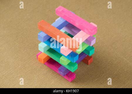 Tas de morceaux de craie Crayon Pastel Banque D'Images