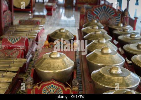 Le gamelan balinais traditionnels, instruments de musique pour ensemble de percussion music, musique traditionnelle Banque D'Images