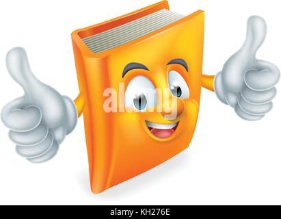 Mascotte de livre de dessin animé