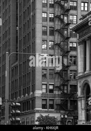 Le noir et blanc vue sur la ville