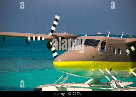 Cheval Blanc' Airways DHC-6 Twin Otter hydravion avion à Randheli island, Maldives Banque D'Images
