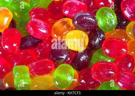Arrière-plan de bonbons colorés de sucre bonbons bonbons colorés close up. Banque D'Images
