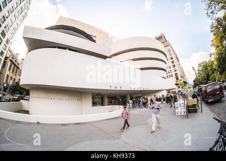 Salomon. R. Guggenheim Museum, 5e Avenue, Manhattan, New York, NY, États-Unis d'Amérique. U.S.A.