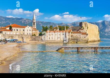 Vieille ville (Stari Grad), Budva, Monténégro Banque D'Images