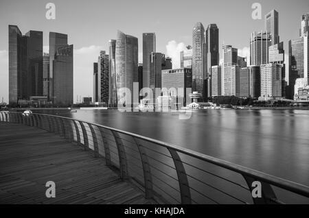 Vue sur la ville de Singapour depuis la jetée