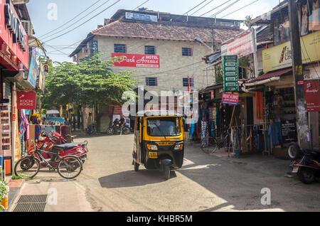 Scène de rue, fort Cochin, Kerala, Inde Banque D'Images