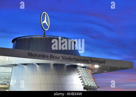 Direction générale de la mercedes benz stuttgart, Bade-Wurtemberg, Allemagne Banque D'Images