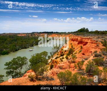 Murray River près de falaises du cap Lookout, Murtho, forêt de Renmark, Australie du Sud Banque D'Images