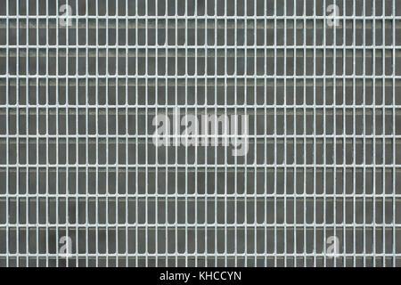 Image en gros plan d'une grille métallique. Grille métallique de texture. Banque D'Images