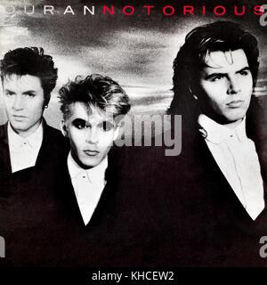Duran Duran - couverture de l'album vinyle original Notorious - 1986 Banque D'Images