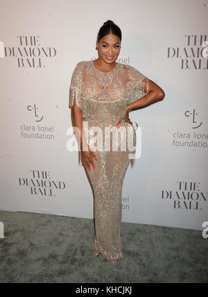 New York, NY - 14 septembre: la la anthony assiste à la 3ème conférence annuelle de rihanna diamond ball au cipriani Banque D'Images