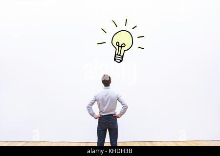 Concept de nouvelle idée d'entreprise ou de l'innovation, la créativité Banque D'Images