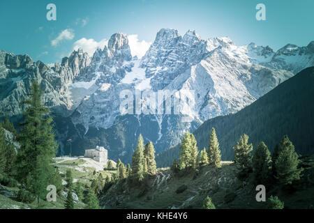 Le sommet des Dolomites Italie Cristallo Banque D'Images
