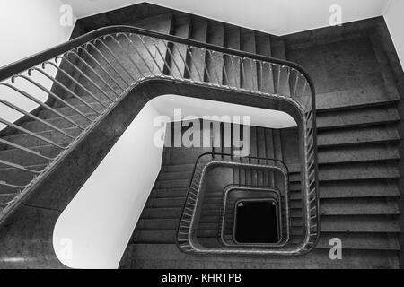 Escalier de la Bendlerblock, le quartier général de l'armée de réserve pour la Wehrmacht pendant la DEUXIÈME GUERRE Banque D'Images