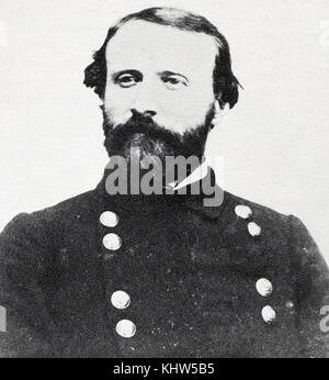 Portrait photographique de Thomas Jordan (1819-1895), un général confédéré et grandes coopératives dans le réseau d'espions confédérés durant la guerre civile américaine. En date du 19e siècle