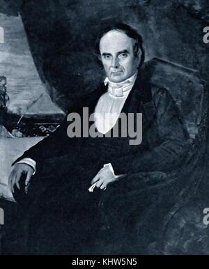 Portrait de Daniel Webster par George Peter Alexander Healy. Daniel Webster (1782-1852) un homme politique américain, Banque D'Images